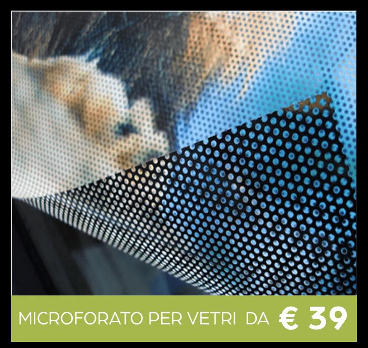 adesivo microforato one way per vetrine stampa a colori